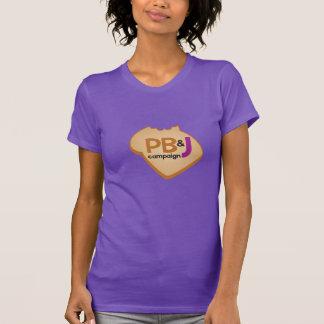 Camisa de PB&J - frente e verso