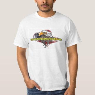 Camisa de rádio 2X dos corações americanos T-shirts