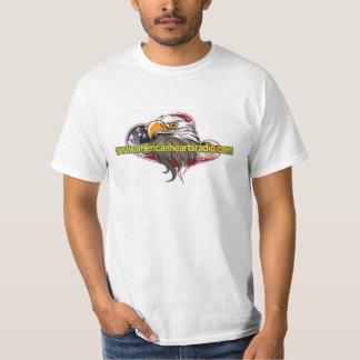Camisa de rádio 3X dos corações americanos Camisetas