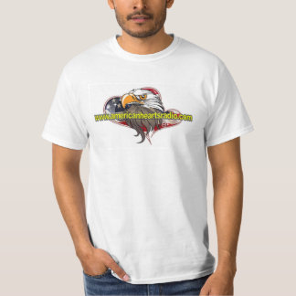 Camisa de rádio dos corações americanos pequena camisetas