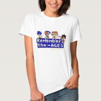 Camisa disponível da Sra. IDADE Camisetas