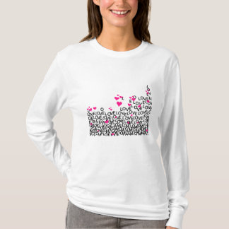 Camisa do amor do dia dos namorados