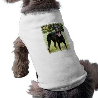 Camisa do animal de estimação do cão do Pinscher d Camisa Sem Mangas Para Cachorro