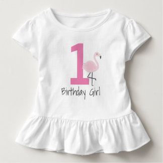 Camisa do aniversário do número do flamingo (pode
