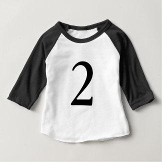 Camisa do aniversário t da idade do número 2
