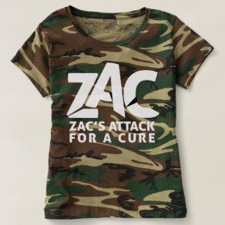 Camisa do ataque de Camo para mulheres