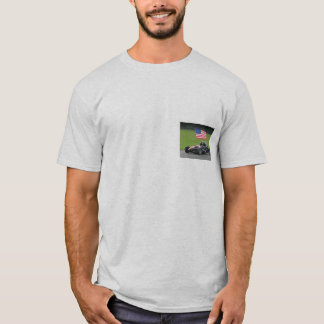 Camisa do átomo T de Ariel com bandeira