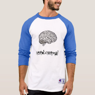 Camisa do basebol de Nerd>Normal
