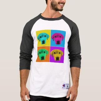 Camisa do basebol do cão do pop