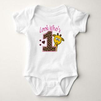 Camisa do bebê do primeiro aniversario da menina