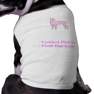 Camisa do cachorrinho do Pinscher do Doberman Camisa Sem Mangas Para Cachorro