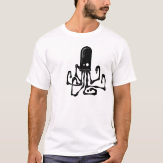 Camisa do calamar T da tinta