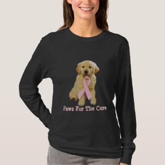 Camisa do cancro da mama do golden retriever
