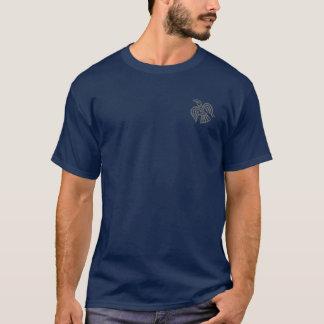 Camisa do cinza do corvo de Viking