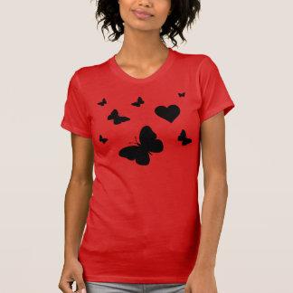 Camisa do coração da borboleta t-shirts