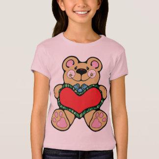 Camisa do coração do ursinho