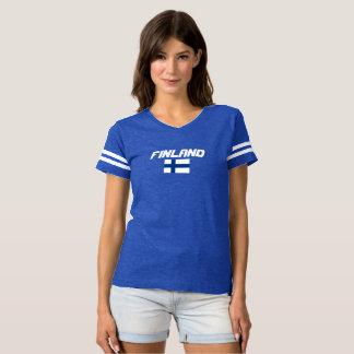 Camisa do costume da bandeira de Finlandia
