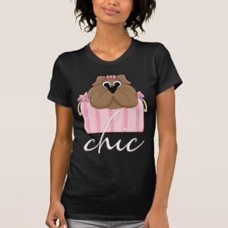 Camisa do desenhista T do buldogue - chique