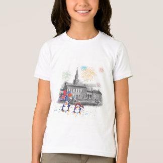 Camisa do Dia da Independência do pinguim