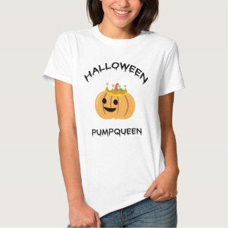Camisa do Dia das Bruxas Pumpqueen T Camisetas