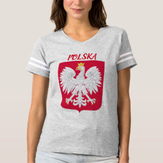Camisa do futebol da crista de Polska (Polônia)