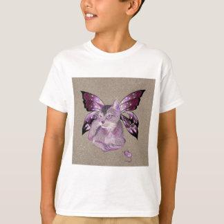 Camisa do gato da lavanda