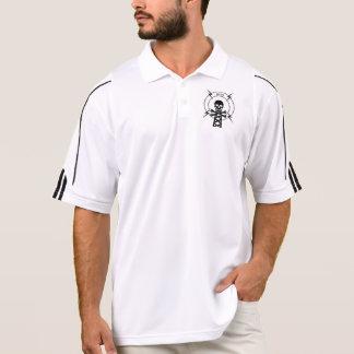 Camisa do golfe do rádio do pirata de WKPM Polo