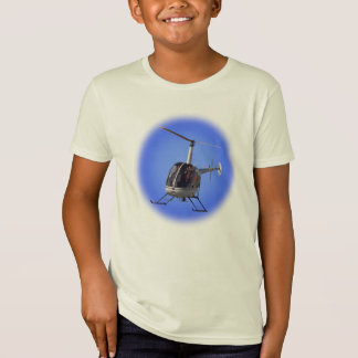 Camisa do helicóptero do miúdo do t-shirt do miúdo