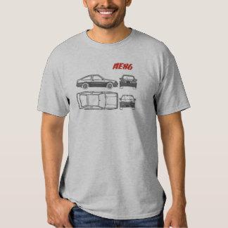 camisa do impressão azul de Toyota Corolla ae86 Camisetas