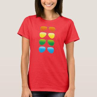 camisa do impressão T dos óculos de sol do anos 80 T-shirts