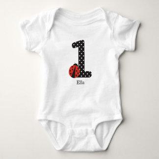 Camisa do joaninha para o primeiro aniversário do