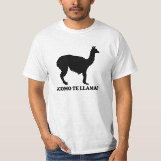 Camisa do lama do te de Como