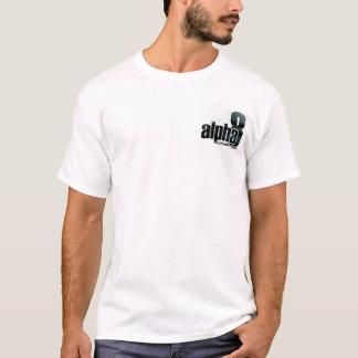 Camisa do logotipo do promocional do alfa 8