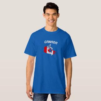 Camisa do mapa da bandeira de Canadá