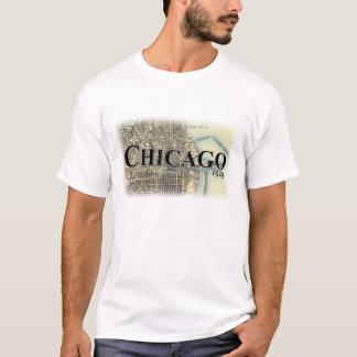 Camisa do mapa do vintage de Chicago