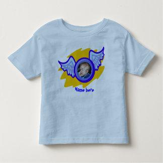 Camisa do menino do anjo com impressão conhecido t-shirt