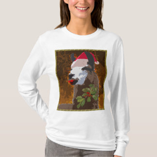 Camisa do Natal do lama do drama - BronzeGold