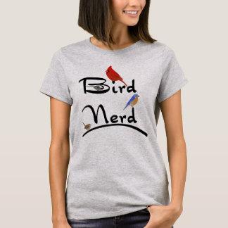 Camisa do nerd do pássaro