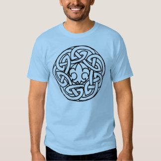 Camisa do nó do escuteiro de menino camiseta