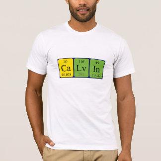 Camisa do nome da mesa periódica de Calvin