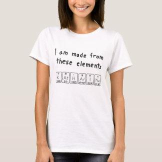 Camisa do nome da mesa periódica de Katharine