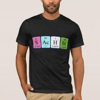 Camisa do nome da mesa periódica de Sachin
