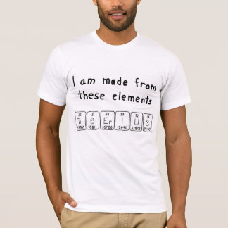 Camisa do nome da mesa periódica de Tiberius