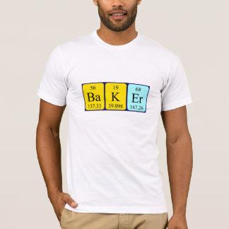 Camisa do nome da mesa periódica do padeiro