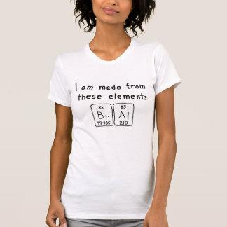Camisa do nome da mesa periódica do pirralho