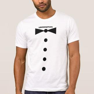 Camisa do padrinho de casamento - arco menor camiseta