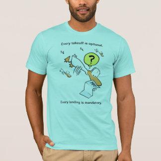 Camisa do pato do humor da aviação