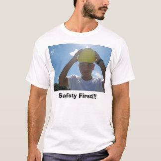 Camisa do promocional da segurança em primeiro