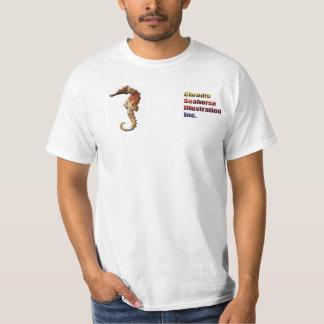 Camisa do promocional do cavalo marinho do cromo camiseta