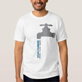 Camisa do promocional do torneira dos canalizador tshirts